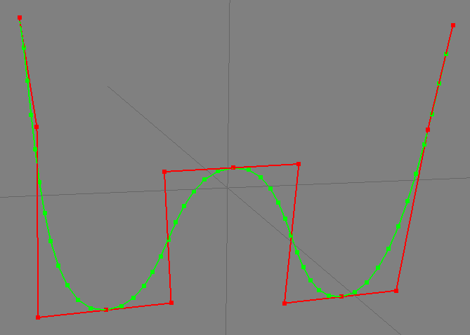 Bezier Curve Points Debug