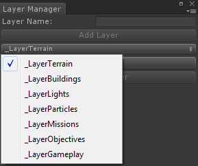 Layer Dropdown